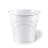 Bicchieri plastica da caffè bianchi 80 cc