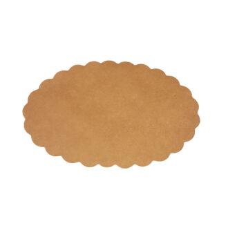 Carta sottofritto ovale 18 x 29 cm per fritti