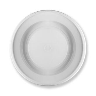 Piatti fondi ø 22 cm bianchi 16 gr extra rigidi PS (conf. 59 pz)