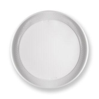 Piatti maxi ø 27 cm bianchi PS (conf. 12 pz)