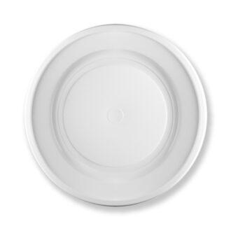 Piatti piani ø 22 cm bianchi 14 gr rigidi PS (conf. 70 pz)