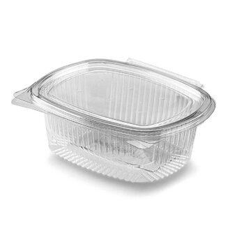 Vaschette asporto 1500 cc con coperchio trasparenti PET (conf. 50 pz)